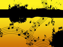 Music Background Means Black Line Classical And Harmony Royalty Free Stock Images