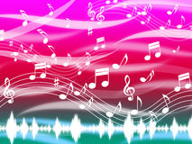 Music Background Means Blues Classical And Melody Royalty Free Stock Photo