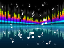 Music Background Means Harmony DJ Or Instruments Royalty Free Stock Images