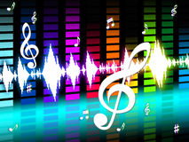 Music Background Means Instrument Tune Or Sounds Royalty Free Stock Images