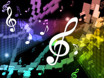 Music Background Means Musical Piece And Harmony Royalty Free Stock Photography