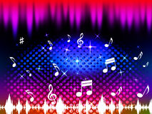 Music Background Means Singing Dancing Or Melody Stock Photography