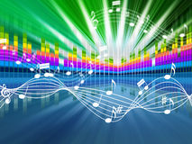 Music Background Means Soundwaves Tune And Singing. Music Background Meaning Soundwaves Tune And Singing Royalty Free Stock Photos