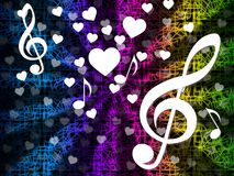 Music Background Means Tune Melody And Harmony. Music Background Meaning Tune Melody And Harmony Stock Photo