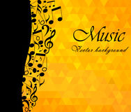 Music Background, musical notes - vector Royalty Free Stock Photography