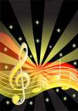 Music background with note Stock Photos