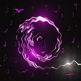 Music background with notes. Royalty Free Stock Images