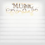 Music background with notes line. Royalty Free Stock Image