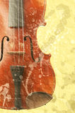 Music background with old fiddle. Image of the music background with old fiddle in grunge style Royalty Free Stock Photography
