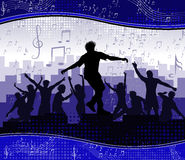 Music background party Stock Image