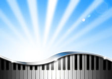 Music Background With Piano Royalty Free Stock Images