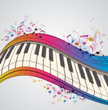 Music background with piano Stock Images