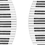 Music background with piano keys Stock Photo