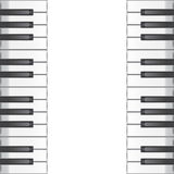 Music background with piano keys. vector illustration Royalty Free Stock Photography