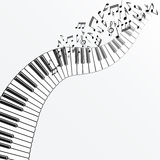Music background with piano. Vector illustration - eps 10 Royalty Free Stock Photo