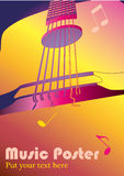 Music background or poster. For perfomance or concert stock illustration