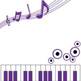 Music Background Purple Stock Image