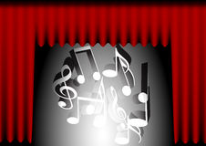 Music Background - Red Curtain vector illustration