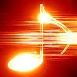 Music background. Red background with some music notes on it Stock Photos