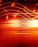 Music background. Red background with some music notes on it Stock Images