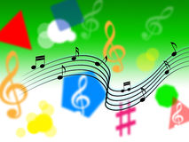 Music Background Shows Melody Piece Or Singing Royalty Free Stock Photography