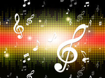 Music Background Shows Musical Notes And Sounds Stock Photography