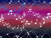 Music Background Shows Musical Song And Harmony Royalty Free Stock Images