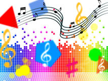 Music Background Shows Piece Melody Or Tune. Music Background Showing Piece Melody Or Tune Royalty Free Stock Image