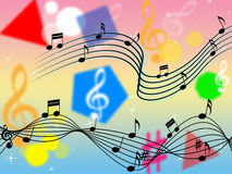 Music Background Shows Rock Pop Or Classical Stock Images