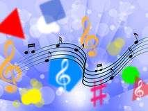 Music Background Shows Song Notes Or Melody Royalty Free Stock Image