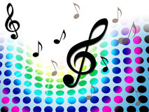 Music Background Shows Treble Clef And Composer Stock Image