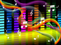 Music Background Shows Tune Jazz Or Classical Royalty Free Stock Image