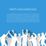 Music background with silhouettes - Flat design style Stock Photos