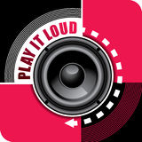 Music background with speaker Royalty Free Stock Photos