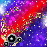 Music background with speaker and note Stock Image