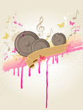 Music background with speakers Stock Photography