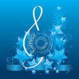 Music background with treble clef Stock Image