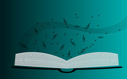Music background. Background with treble clef and open book Royalty Free Stock Photography