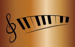 Music background. Background with treble clef and piano Royalty Free Stock Photo