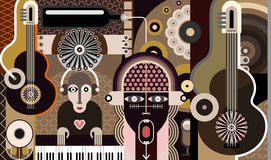 Music Background - vector illustration Stock Photos