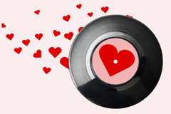 Music background with vinyl record Royalty Free Stock Images