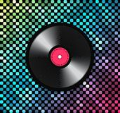 Music background with vinyl record. Vector background from a banner, a poster or for the realization of your other design ideas Royalty Free Stock Image