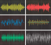 Music backgrounds of audio sound waves pulse. vector  Stock Photo