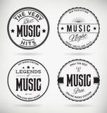Music Badges Royalty Free Stock Photo