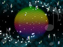 Music Ball Background Means Rainbow And Singers. Music Ball Background Meaning Rainbow And Singers Royalty Free Stock Photography