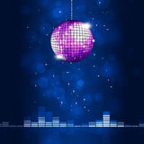 Music Ball Blue Background Royalty Free Stock Photography