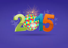 2015 music ball. Illustration of 2015 text with ball music Stock Photo