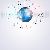 Music Ball Party Background Stock Image