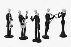 Music Band Action Figures. Music Band Statuette Decorations Ornament stock image