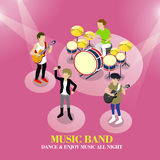 Music band concept Royalty Free Stock Photography